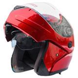 Casco Abatible Rojo Chopper Motocicletas Cascos