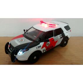 Viatura Ford Polícia Militar De Sp Força Tática 1/24 Luz Som
