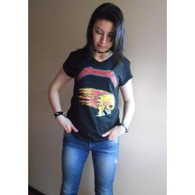 Camiseta Metallica Para Dama