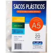 Saco Plástico Pp A5 4 Furos 0,10mm 1510 Plastpark Pt 20 Un