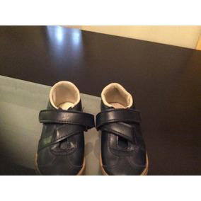 Zapatillas Mimo Vestir Niño Azul Oscuro Abrojo 27 Impecable