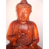Buda Meditando Talla De Madera ** Deco-ofertas**
