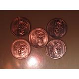 Monedas De 50 Centavos, Palenque. Lote 5 Monedas.