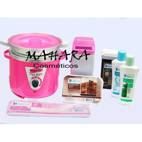 Kit Panela Termocera 900gr + Aquecedor De Cera Roll-on