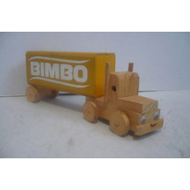Trailer Bimbo - Camioncito De Juguete - Camion De Madera