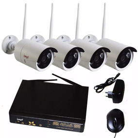 Kit Nvr 4 Câmeras Ipega 1.3mp 4ch Infra Wi-fi 100m 1080p P2p