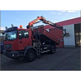 Camión Man Fe410 Con Grúa Palfinger Pk13000-3