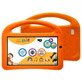 Tablet Dl Play Kids Branco Tx330bra Tela 7´´, Wi-fi, 8gb