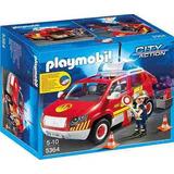 Auto De Jefe De Bombero Con Luces Y Sonidos Playmobil