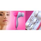 Cepillo Masajeador Giratorio De Limpieza Facial 5 En 1