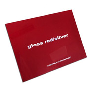 Aluminio Bicapa Laserables 0,45mm X4 Unidades Rojo / Plata