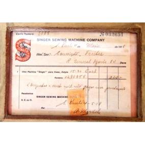 Singer Sewing Machine Nota Fiscal Compra 1918 Original