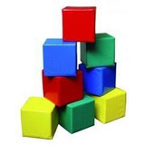 Cubo Triang Cilindro Goma Espuma 20x20 Mini Formas