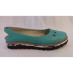 Zapato Cuero Mujer, Plataforma De Goma Eva. Marca Alen