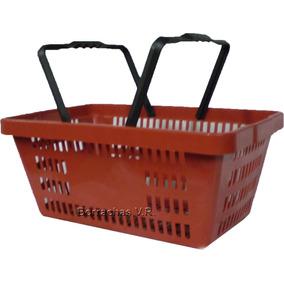 Cesta P/ Supermercado, Compras, Feira, Armazem Etc. Vermelha