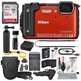 Cámara Digital Nikon Coolpix W300 (naranja) Con Wifi Y Delux