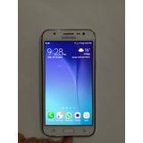 Samsung Galaxy J5 Blanco- Camara 13/5 Mpx Flash Frontal