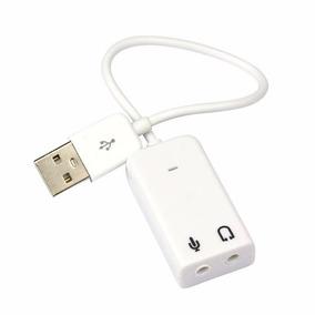Placa De Audio Usb Com Fio Som 7.1 3d Fone Frete Gratis