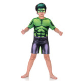Fantasia Hulk Infantil Curto - Animação