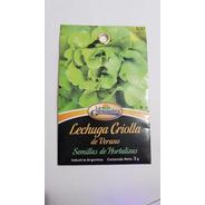 Semillas De Lechuga Criolla 3g X Sobre La Germinadora