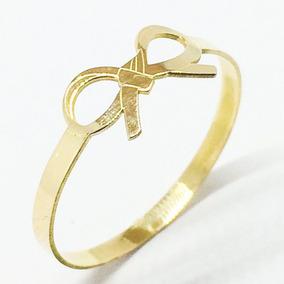 Anel Laço Lacinho Ouro 18k Lindo Debutante Noivado Namorada