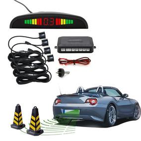 Sensor Re Estacionamento Automotivo Led Preto Prata Branco