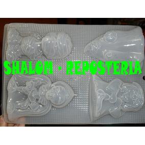 *molde Mediano Para Hacer Gelatinas De 4 Figuras Halloween*