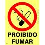 Placa Proibido Fumar 20x15cm Fotoluminescen Npt 20 Bombeiros