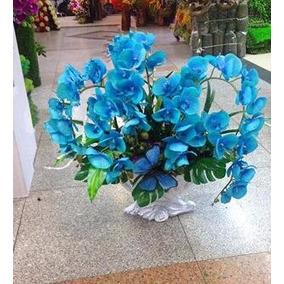 Kit 100 Sementes Flor Orquídea Azul Exóticas Raras/p Mudas