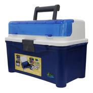 Caixa De Pesca Pb Box 007 Pesca Brasil Com 3 Estojos Azul