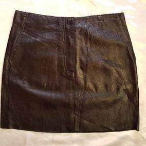 Mini Falda Cuero Acharolado Negro Talla 36-38 Envio Gratis¡¡
