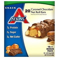 Atkins Barra Snack Caramel Chocolate Roll Proteina Low Carbs