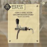 Lote 6 Canillas Cerveza Doble Acción C/comp Esp.