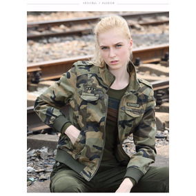 Chaqueta Free Army De Camuflaje Mujer 2017 - A Pedido