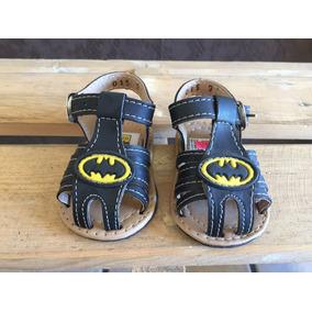 Bebitos Huarache Negro Batman Para Bebé Niño