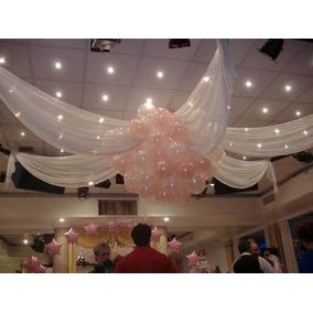 Arreglos de salon con globos para boda globos en mercado for Decoracion con globos salones