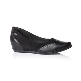 Sapatilha Preta Comfortflex Sapato Feminino 1894302