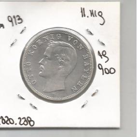 G 10 Estados Alemanes Bavaria Moneda Plata 2 Marcos 1904 D