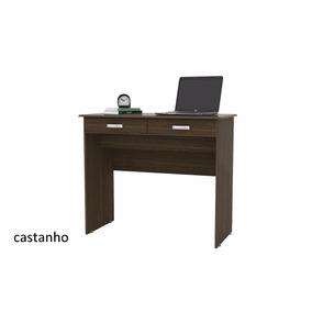 Escrivaninha 2 Gavetas Castanho - Comprar Móveis