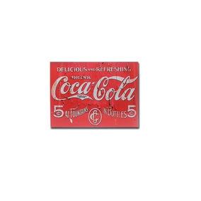 Quadro Decorativo Em Metal Coca Cola Pl307 30x40cm
