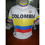 Camiseta De Ciclismo Colombia Bicicleta Saldo Exportacion