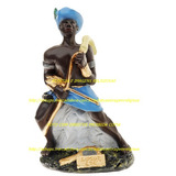 Imagem Orixa Logun Edé Africa Estatua 23cm Gesso Fabrica Br