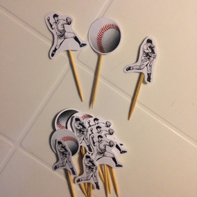 Toppers Postres Beisbol Baseball (docena)