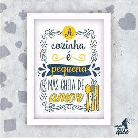 Quadro Decorativo - Cozinha - Amor - Frase Lettering