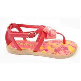 Sandalia Chiquititas 21192 Grendene - Bege/vermelho/rosa