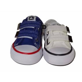 Zapatillas Lona Sky Blue Abrojos Dreams Calzado Caballito
