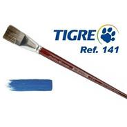 Kit 9 Pincel Tigre 141 Pêlo Marta Tropical Chato Do 0 Ao 16