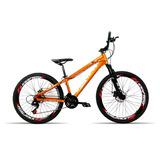 Bicicleta Aro 26 Venzo Fx3 21v Shimano Vmax Spinner Laranja