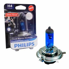 Lâmpada Philips Crystal Vision Moto H4 35/35w Super Branca