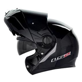 Capacete Ls2 Ff386 Preto Brilho Tamanho 61 Robocop Motoxwear
